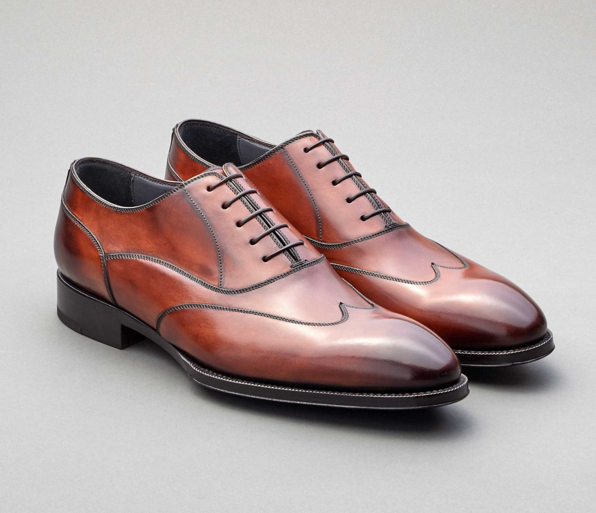 Barletta Leather Lace-up in Marmo