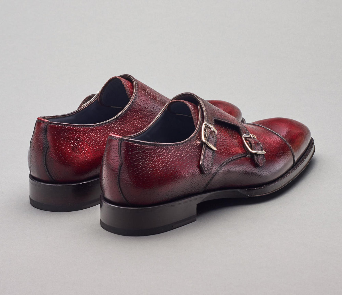 The Arezzo Oxblood Monk Strap Shoes