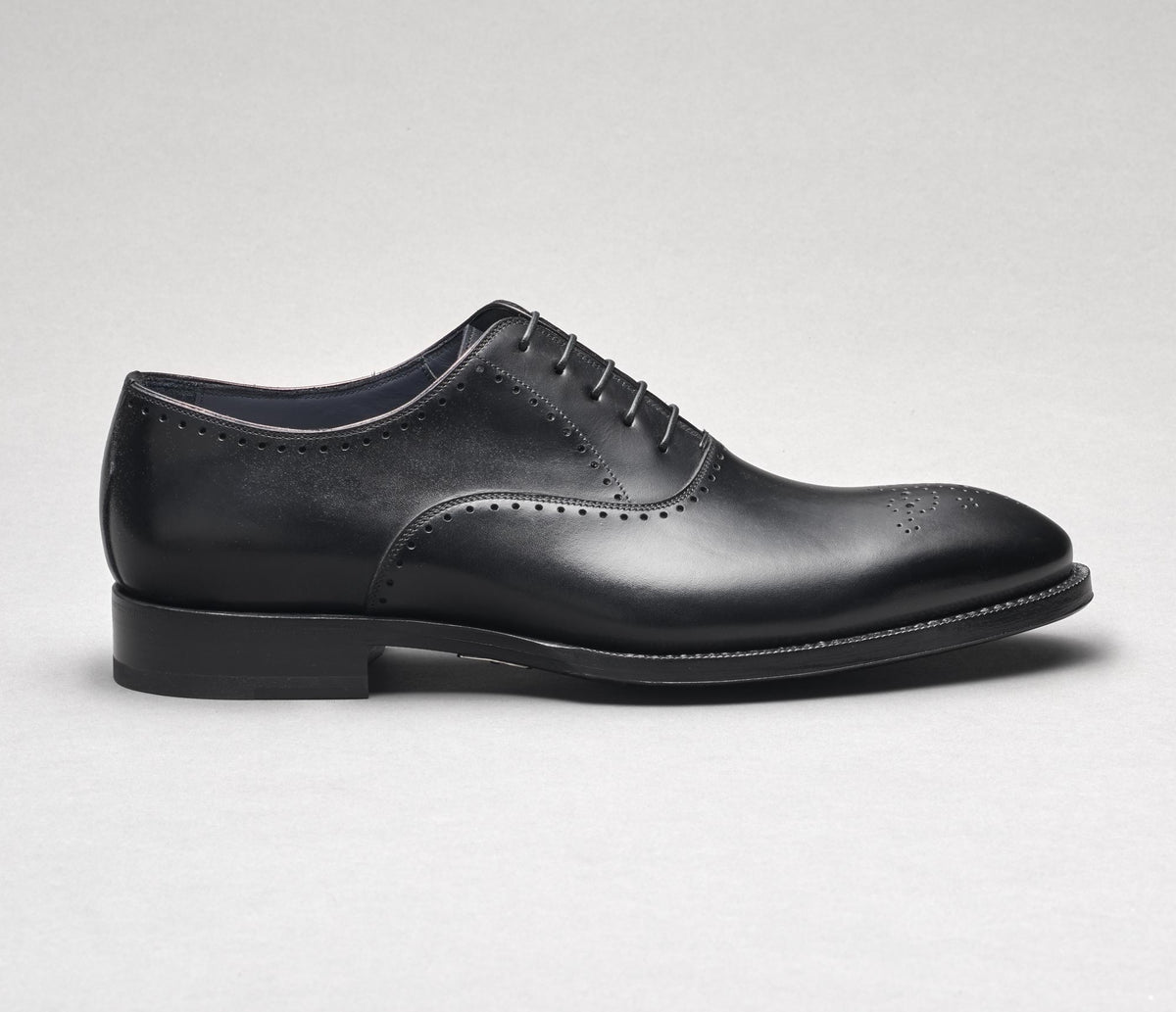 Ancona Leather Lace-up in Nero