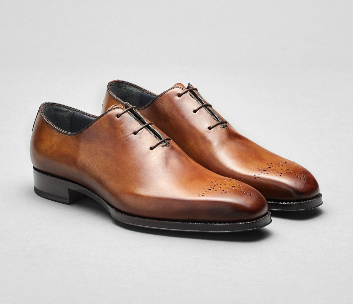 Pistoia Leather Lace-up in Tabacco