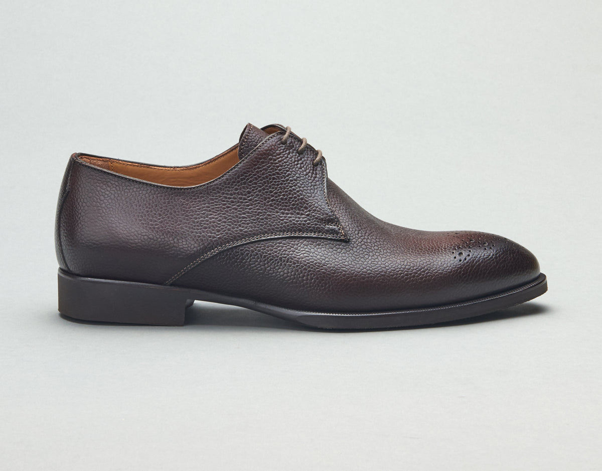 Udine Pebble Grain Lace-up in Moro