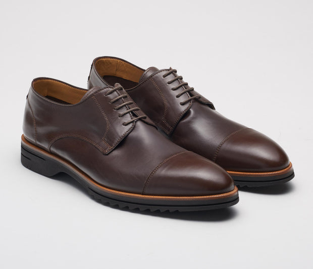 Milano Leather Lace-up in Bracken