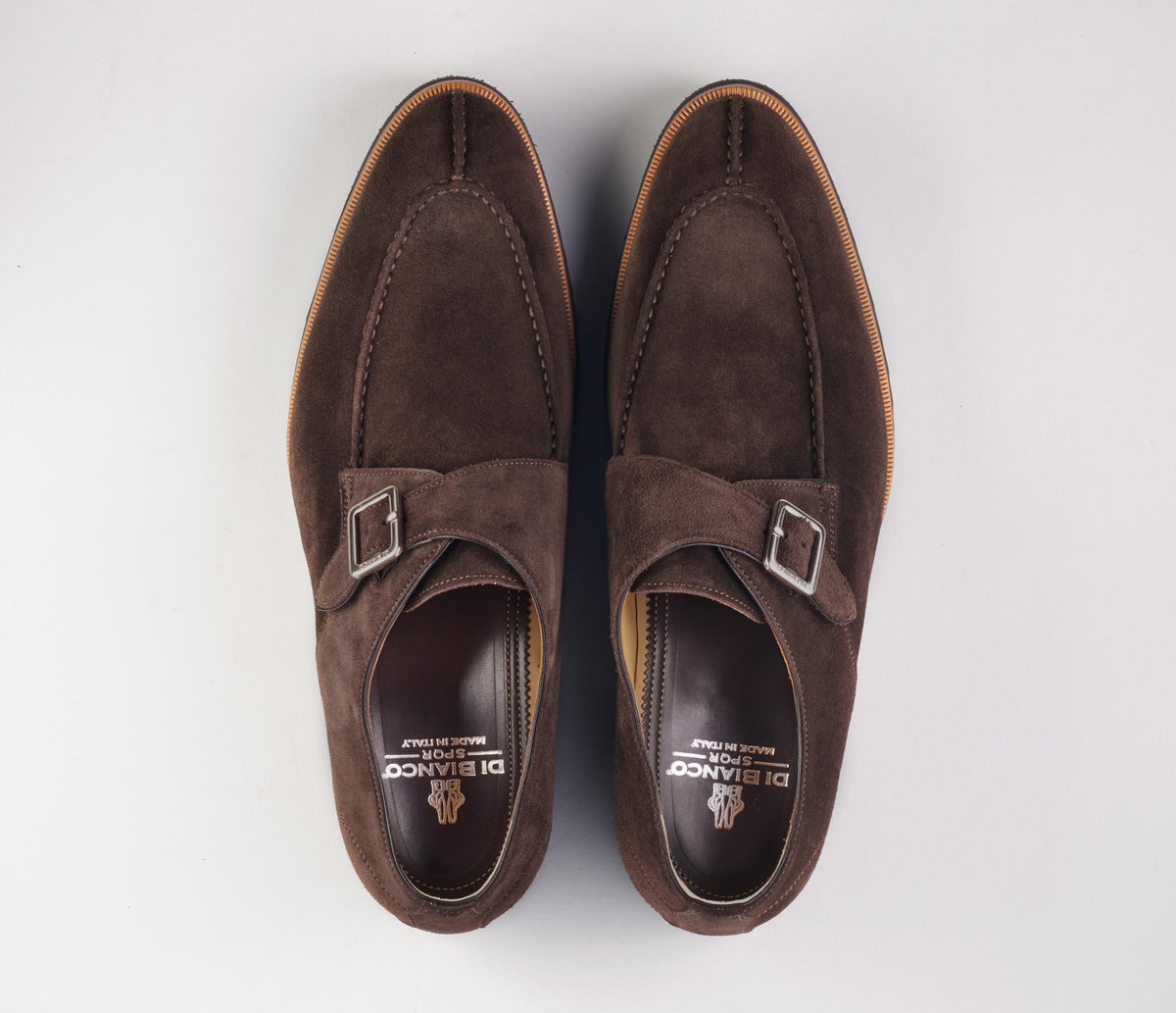 The Venezia Suede Corvino Monk Strap Shoes