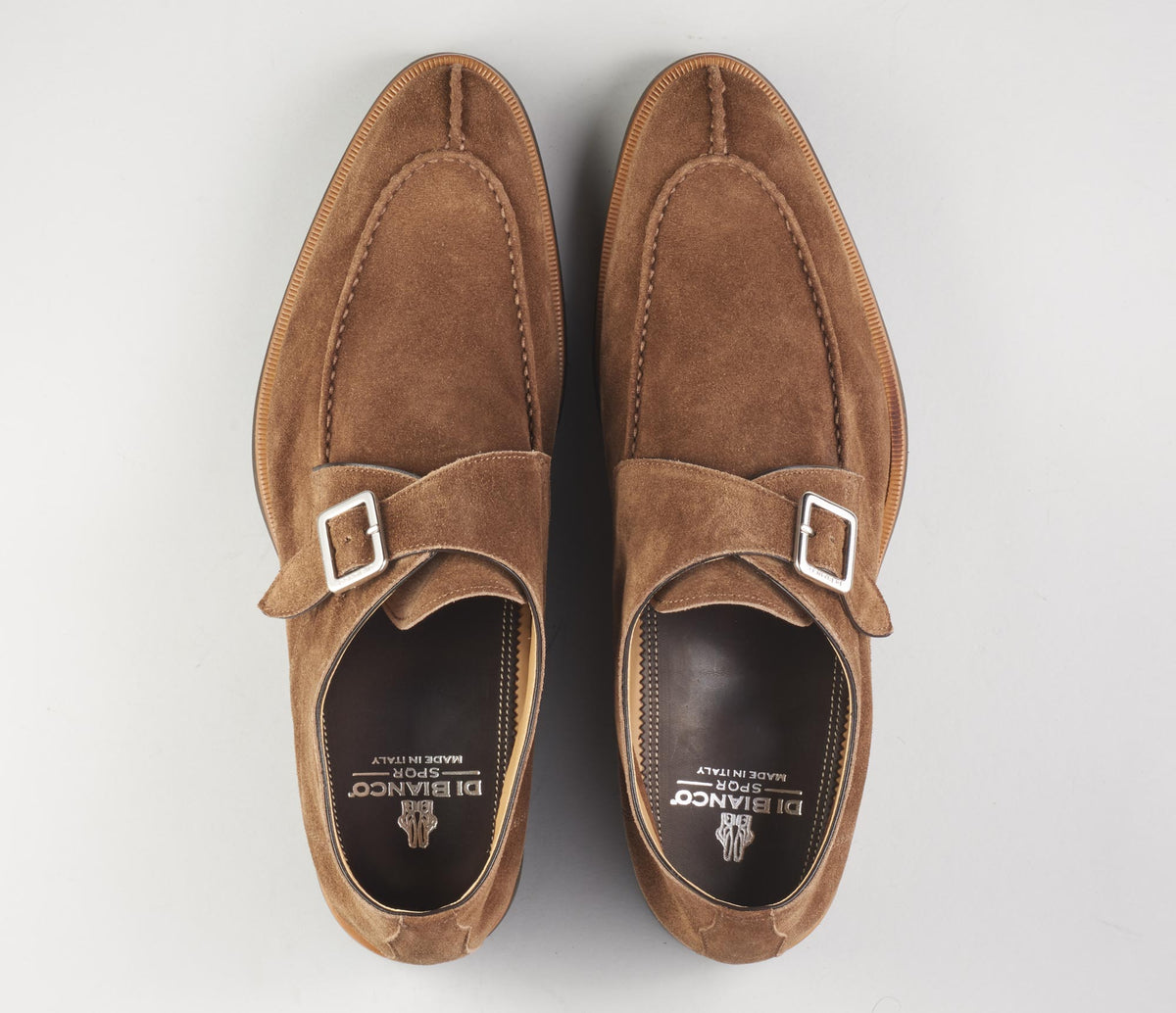 The Venezia Suede Farro Monk Strap Shoes