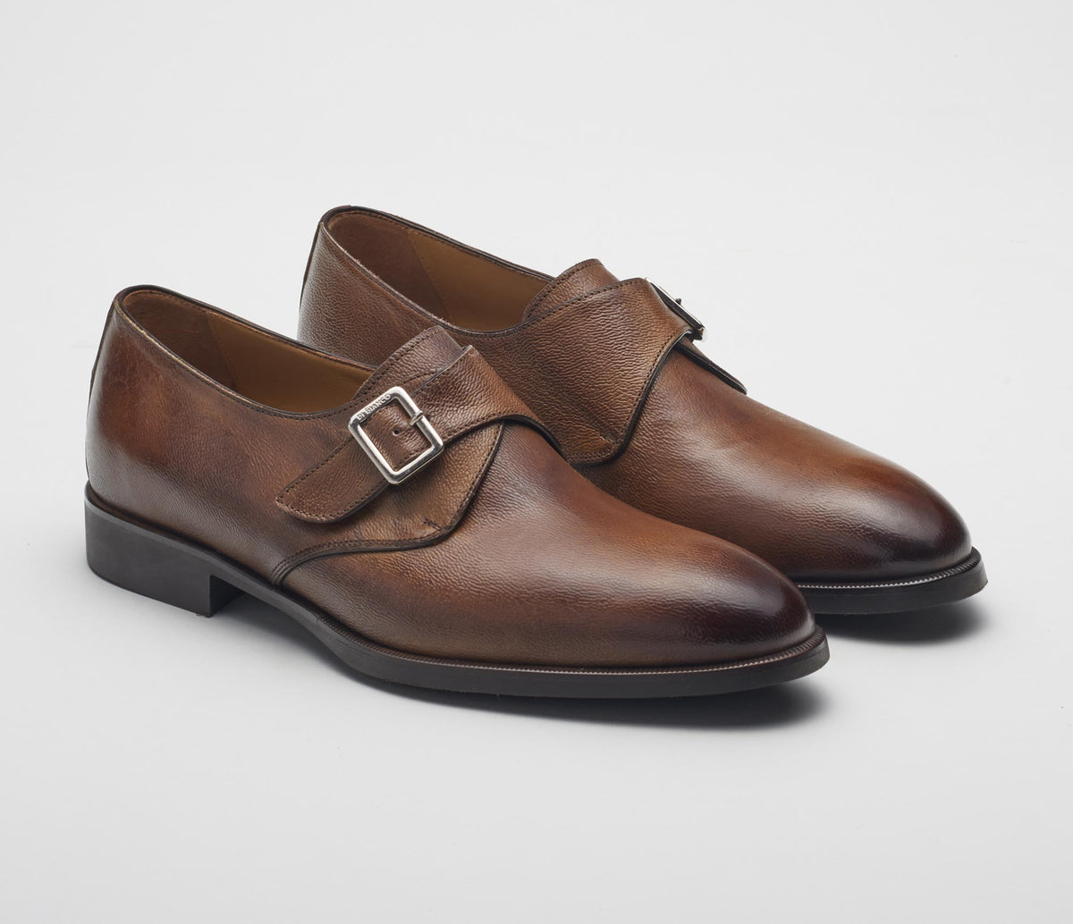 The Modica Reverse Sombrero Monk Strap Shoes