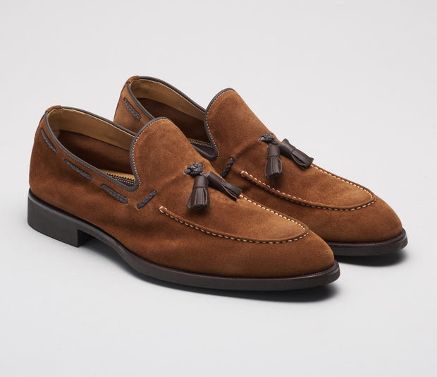 Malpensa Suede Loafer in Cacao