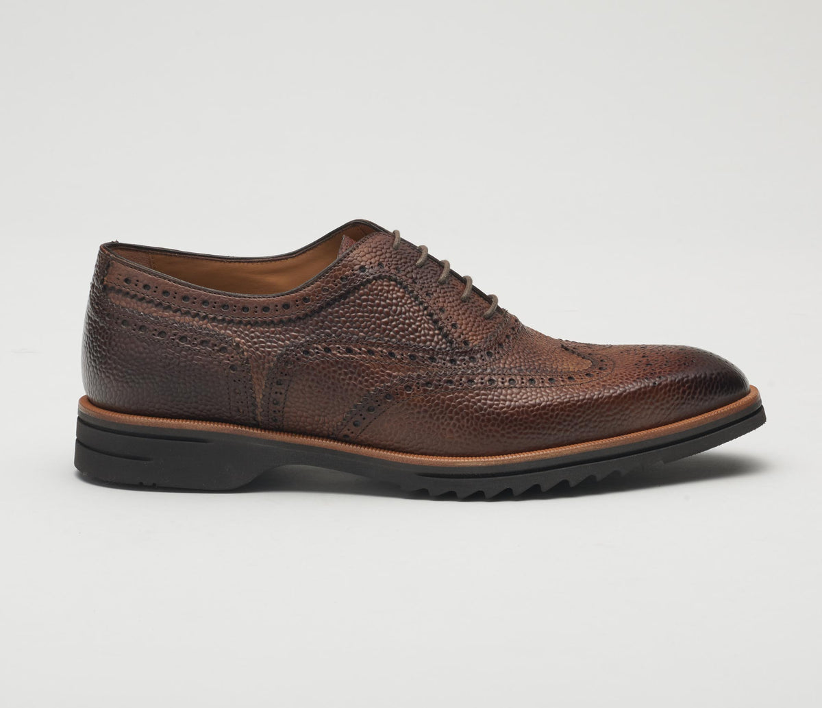 Calabria Leather Lace-up in Reverse Sombrero