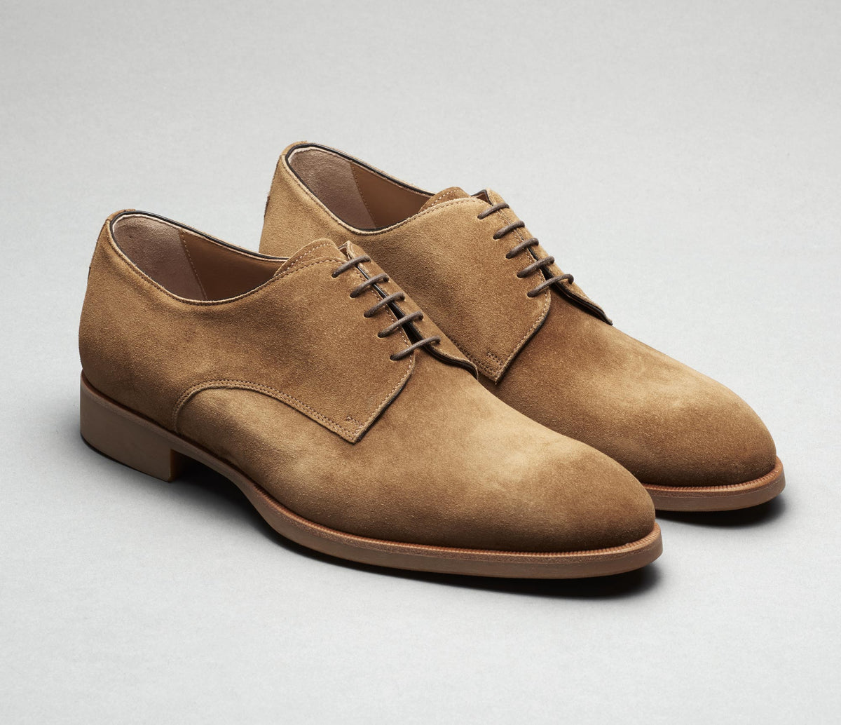 Breno Suede Lace-up in Sigaro