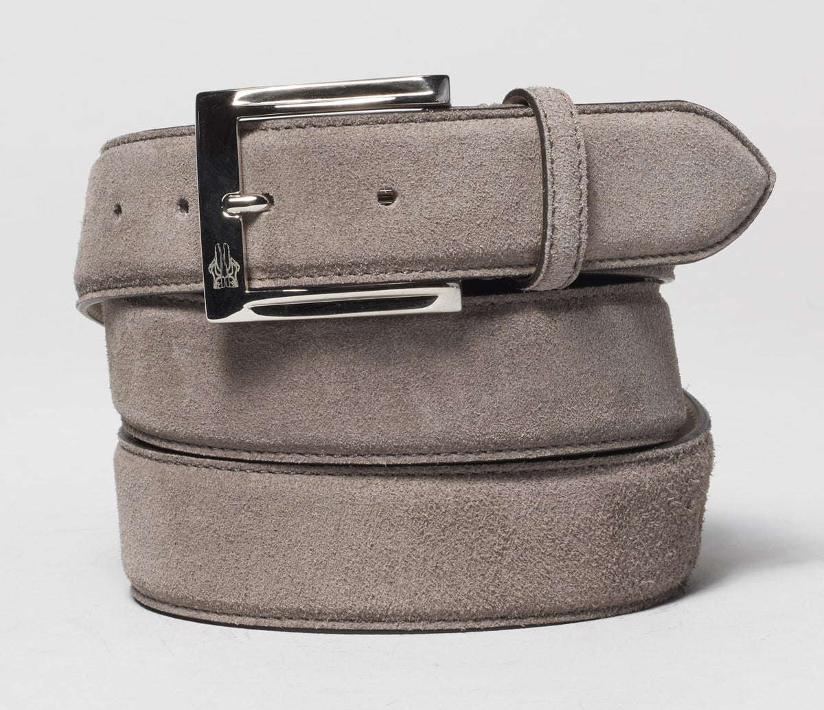 Belt In Velour Pomice
