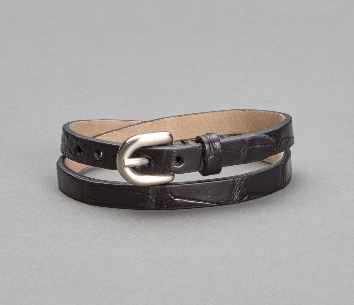 Bracelet Alligator Nero
