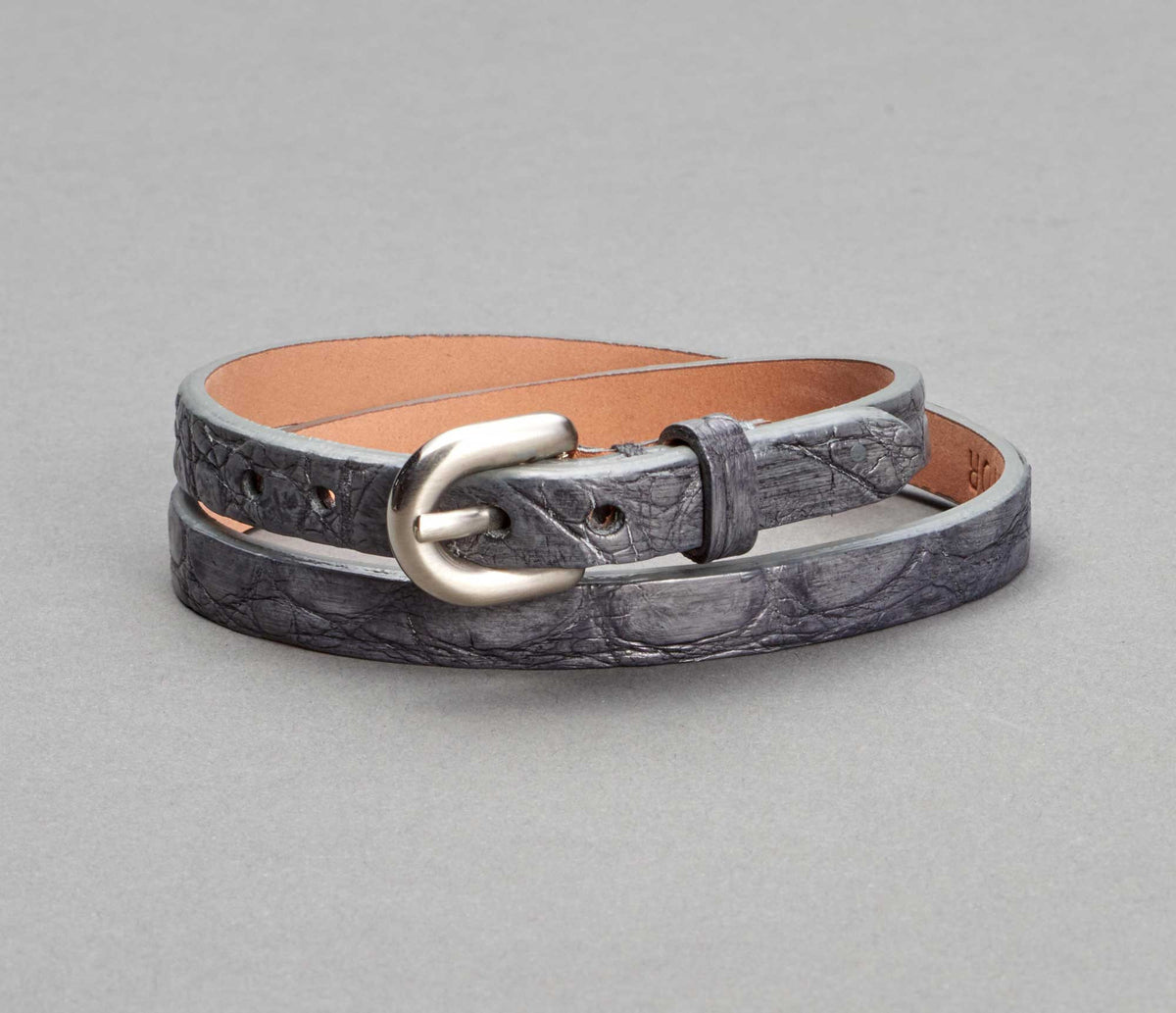 Bracelet Alligator Smoke Grey