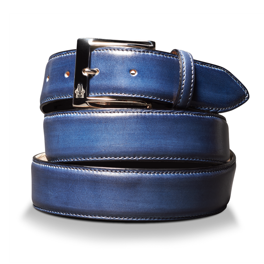 Belt in Deco Blu