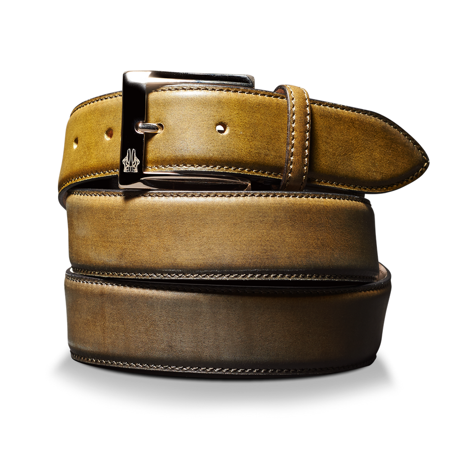 Belt in Deco Nero Oliva