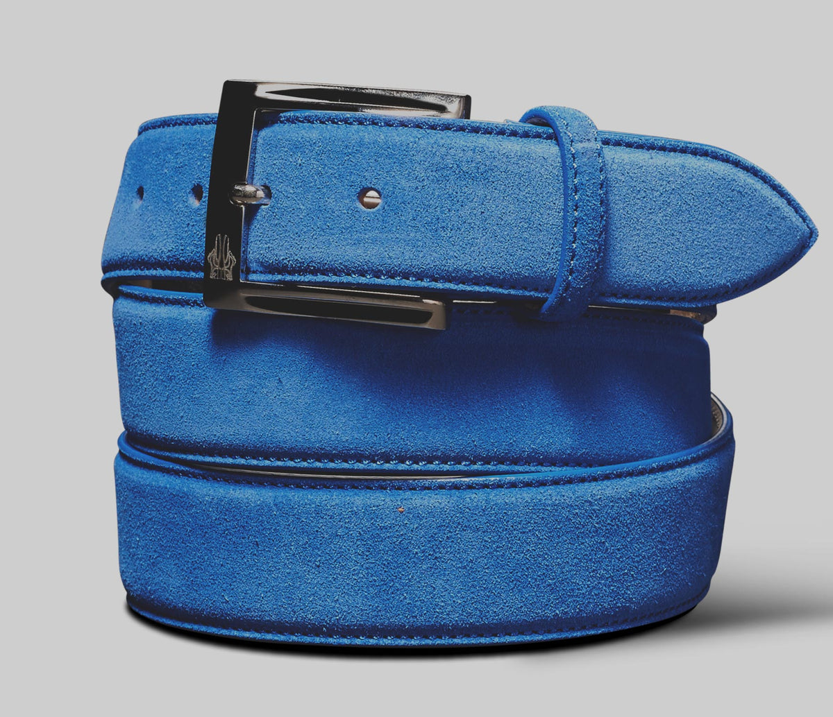 Belt in Velour Genziana