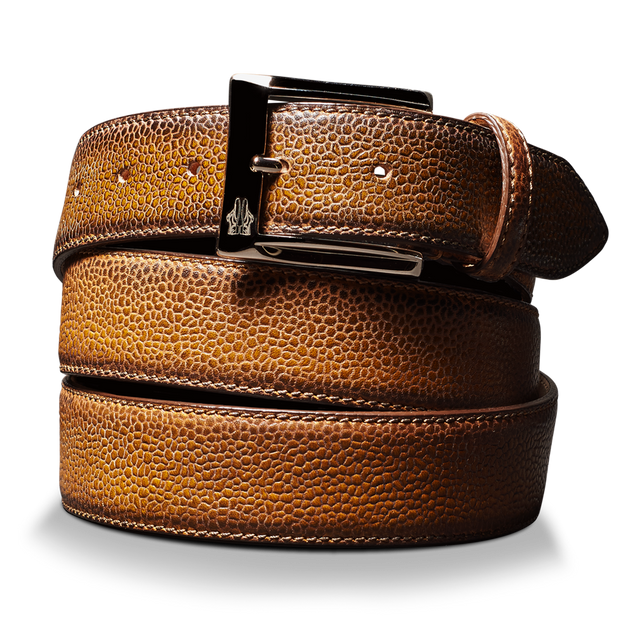 Belt in Scotch Grain Reverse Sombrero