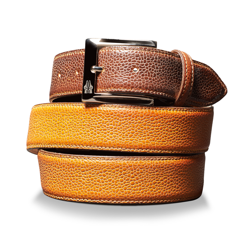 Belt in Scotch Grain Giallo