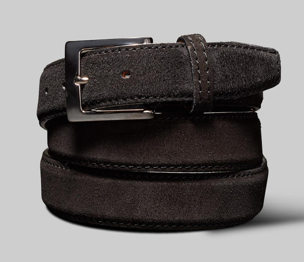 Belt in Velour Nero