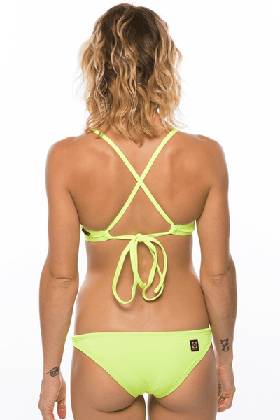 Europe Bikini Spodek - Highlighter Yellow