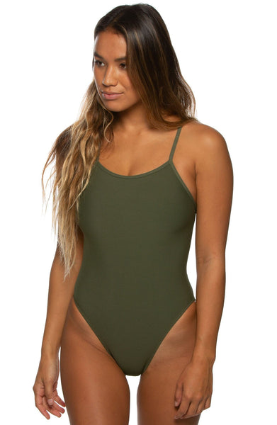 Brandon Swim Onesie - Army