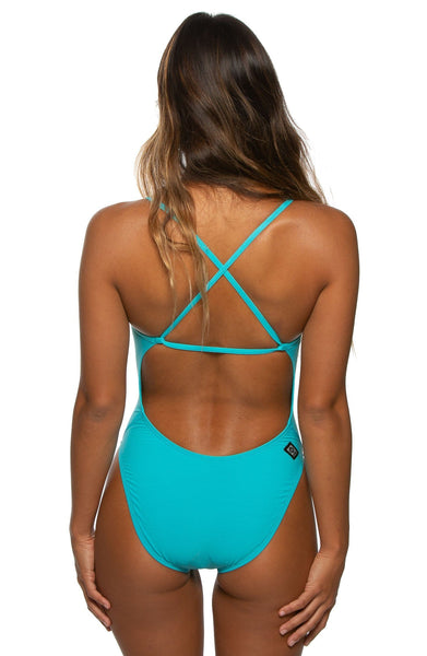 Brandon Swim Onesie - Hawaii Blue