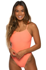 Brandon Swim Onesie - Papaya