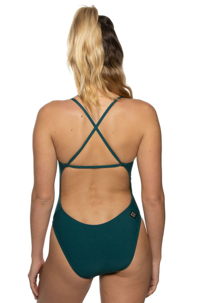 Brandon Swim Onesie - Peacock