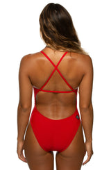 Brandon Swim Onesies - Red