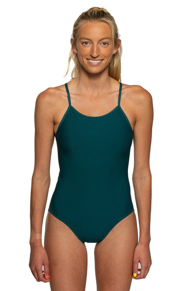 Belle Swim Onesie - Peacock