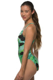 Printed Chevy Fixed-Back Onesie - Palm Frond