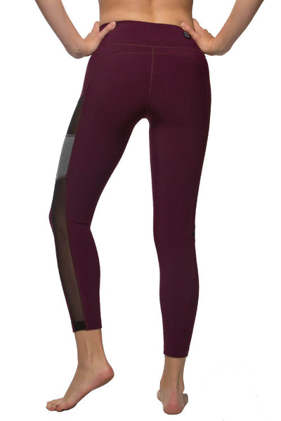 "Chip ""Cozy"" Leggin - Cabernet/Black/Heather Grey"