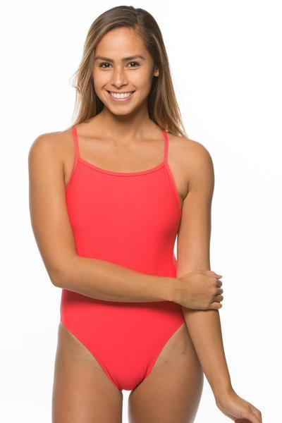 Perry Swim Onesie - Strawberry