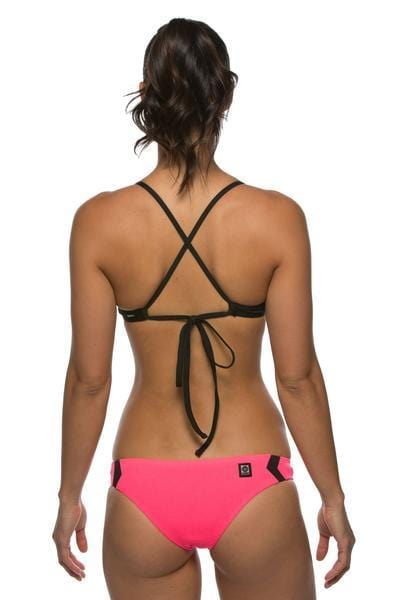Glenn Bikini Unterteil – Hot Pink/Black