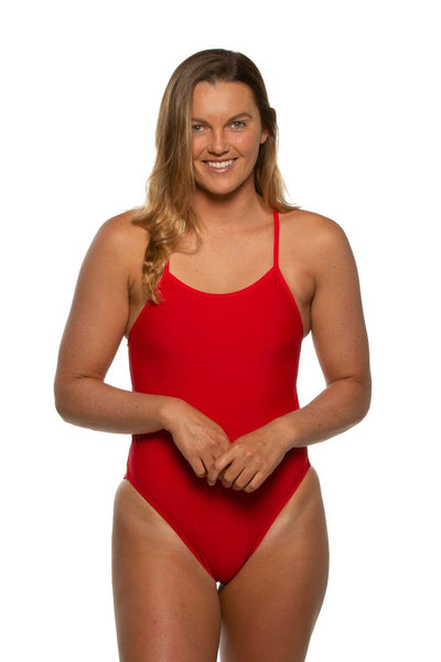 Gavin Swim Onesie - Red/Multicolor
