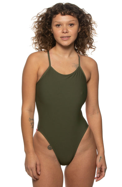 Gavin Swim Onesie - Army/Multicolor