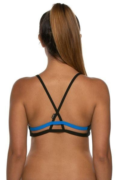 Holden Bikini Top - Beach/Black/Water Blue
