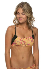 Holden Bikini Top - Le Bloom/Black