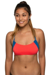 Holden Bikini Top - Strawberry/Deep Blue Sea/Mango