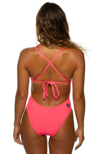 Jackson Swim Onesie - Hot Pink
