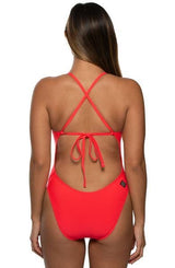 Jackson Swim Onesie - Strawberry