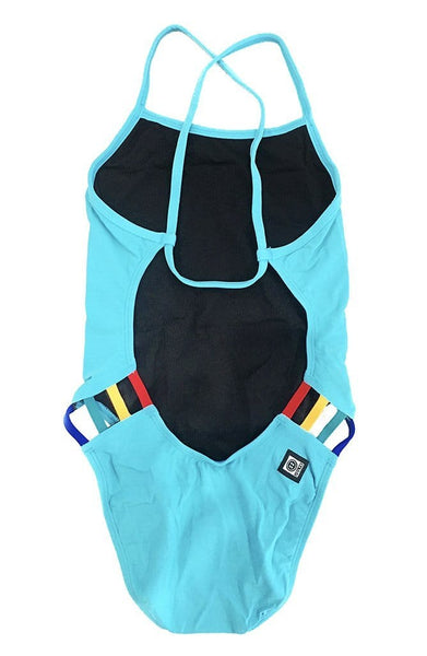 Julian Swim Onesie - Hawaii Blue/Multicolor