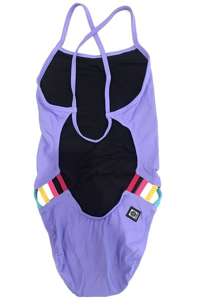Julian Swim Onesie - Lavender/Multicolor