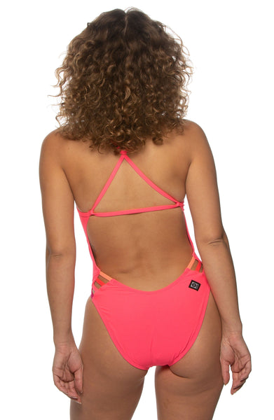 Julian Swim Onesie - Hot Pink/Multicolor