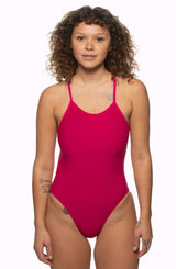 Julian Swim Onesie - Dragon Fruit/Multicolor