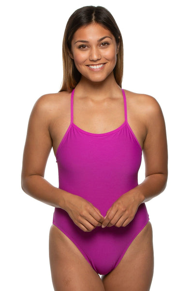 Nico Swim Onesie - French Mulberry