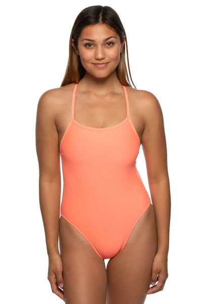 Nico Swim Onesie - Papaya