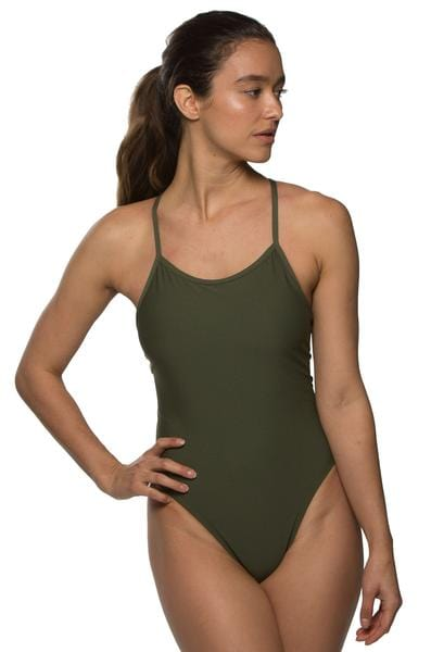 Perry Swim Onesie - Army