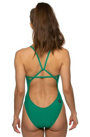 Perry Fixed-Back Onesie - Emerald
