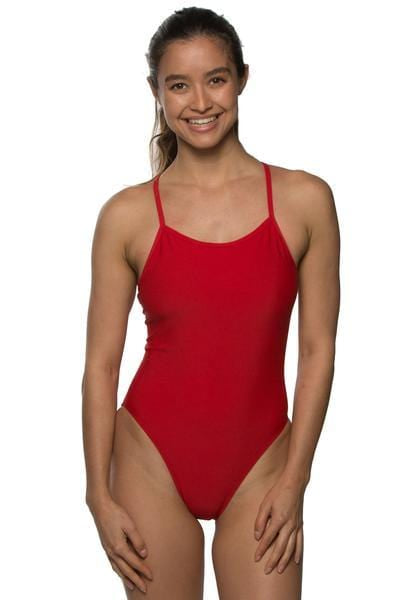 Perry Swim Onesie - Red