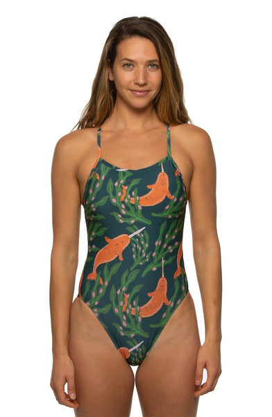 Perry Swim Onesie - Gnarwhal
