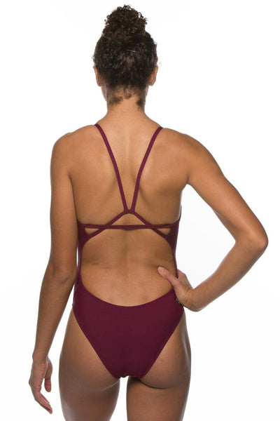 Perry Fixed-Back Onesie - Cabernet